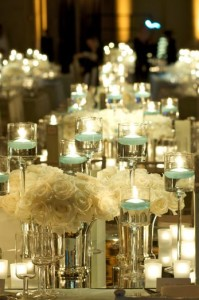 wedding centerpieces, candles > flowers.