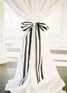 black + white striped bow detail | Landon Jacob #wedding
