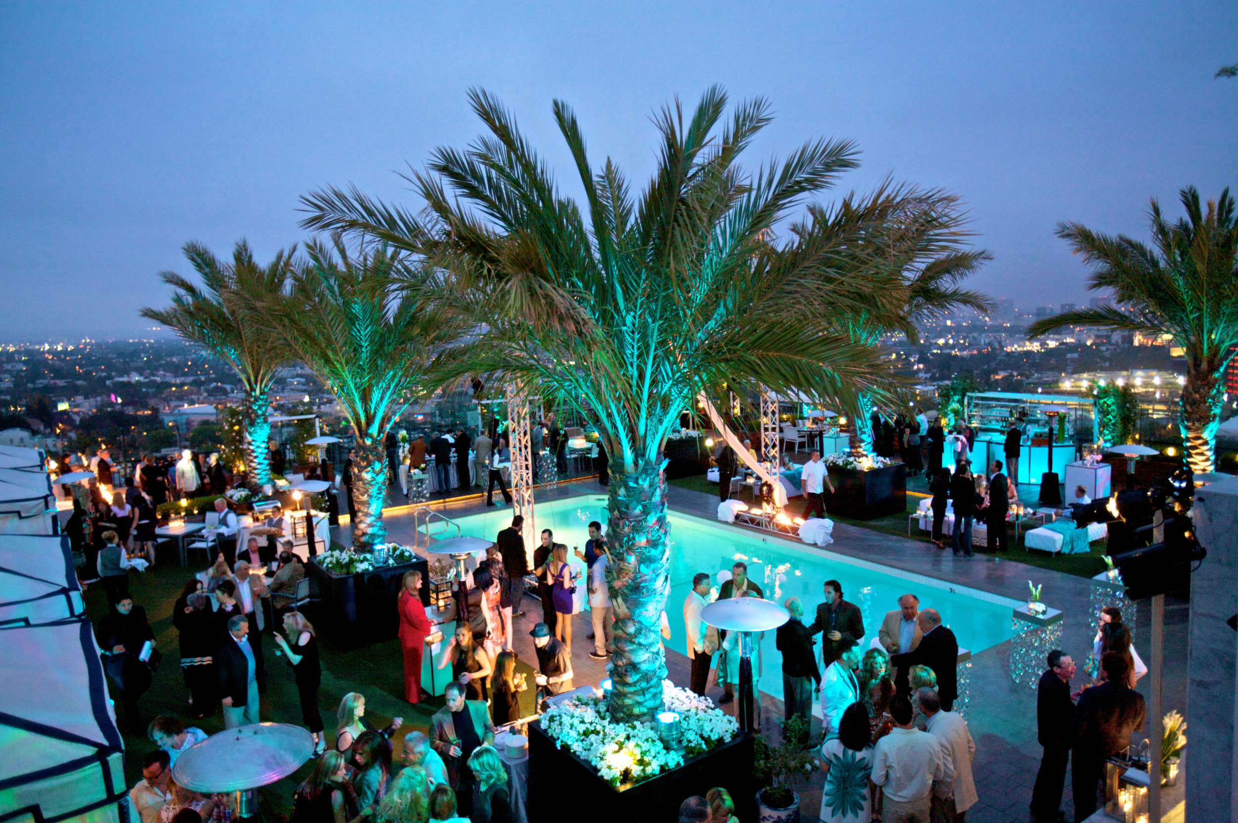 Stunning Roof Top Rehearsal Dinner